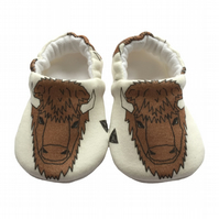 Brown Bulls Baby Shoes Organic Moccasins Kids Slippers Pram Shoes Gift Idea 0-9Y