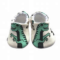 Dinosaurs Baby Shoes Organic Moccasins Kids Slippers Pram Shoes Gift Idea 0-9Y