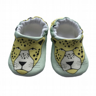 Leopard Baby Shoes Organic Moccasins Kids Slippers Pram Shoes Gift Idea 0-9Y