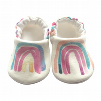 Rainbow Baby Shoes Organic Moccasins Kids Slipper Pram Shoes Gift Idea 0-9Y