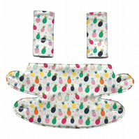 ERGO 360 BABY CARRIER Teething Drool Pad Covers in Pineapples Cactus Parrots