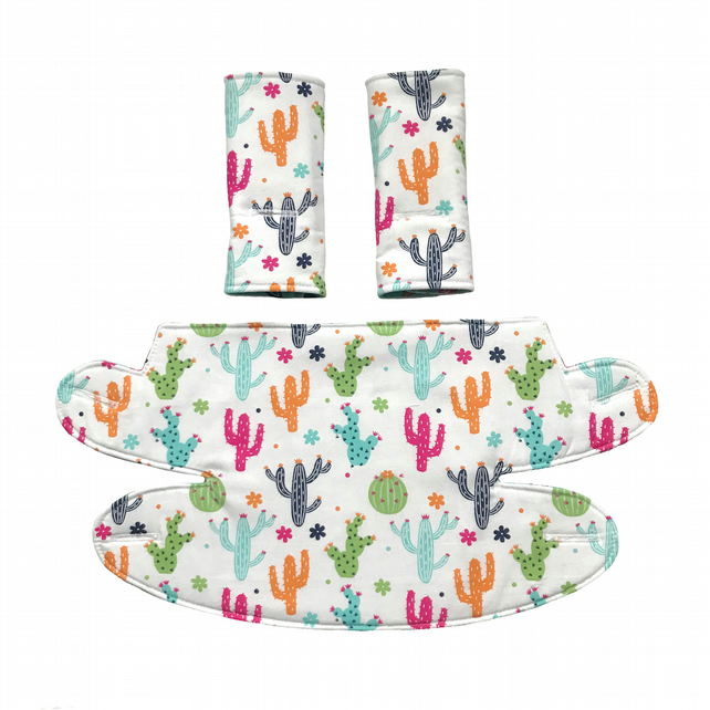 ERGO 360 BABY CARRIER Teething Drool Pad Covers in Cactus Feathers Pineapples
