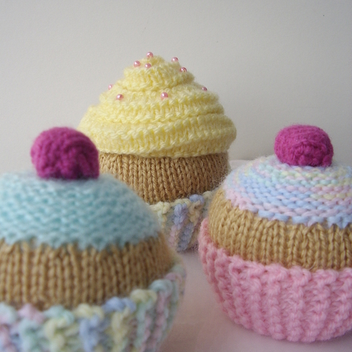 CUP CAKE KNITTING PATTERN