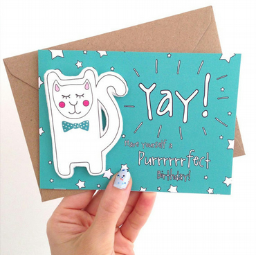Yay! Happy Birthday Finger Puppet Card