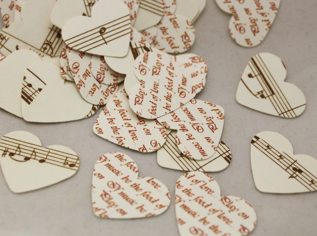 Shabby chic vintage look sheet music love heart folksy - Vintage and chic love ...