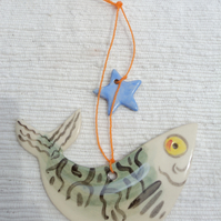 Hanging Decoration Starry Gazey Mackerel  with Blue Star