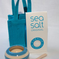 Salt Pot Gift Set with Cornish Sea Salt