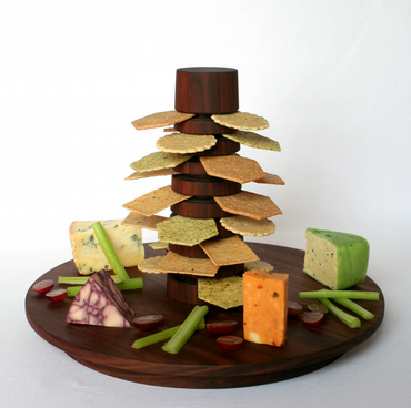 Ultimate Cheese and Cracker board in solid wood
