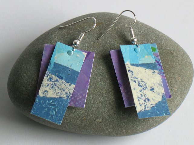 Earrings Made From Recycled Plastic Bags Folksy