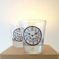 Pair of Time for Drinks tumblers