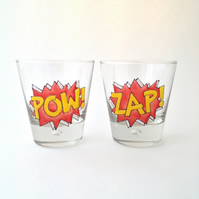 Pair of POW ZAP tumblers
