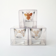 Individually boxed shot glass wedding favours