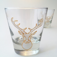 Pair of White Stag Tumblers