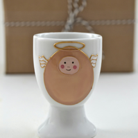 Little Angel Egg porcelain egg cup