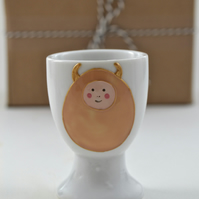 Little Devil Egg porcelain egg cup