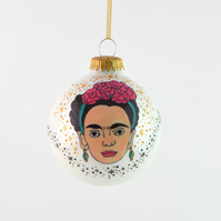 Frida Kahlo Christmas Bauble