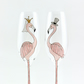 Bride and Groom Flamingo Flutes