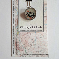 People & Places - Mini Worlds Brooch & Map Pouch - Bicycle in Grasmere