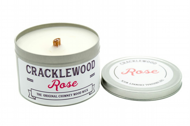 Cracklewood Rose Wood Wick Candle: Vanilla Flavour
