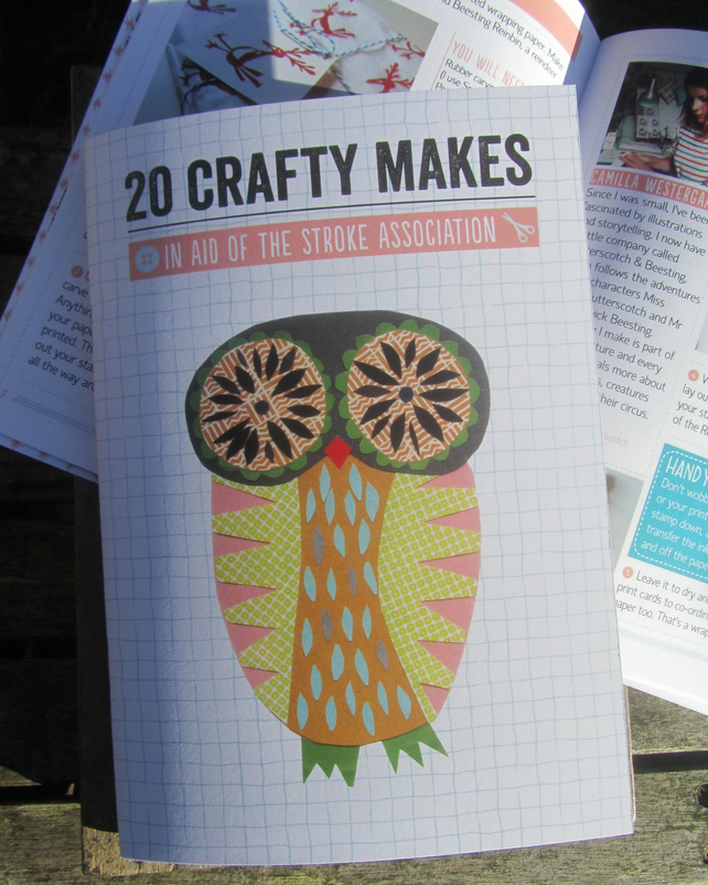 20 Crafty Makes book - Printed edition owl