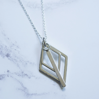 Geometric Layered Necklace