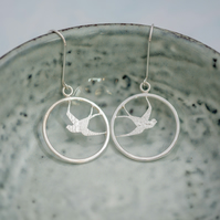 Swallow Loop Earrings