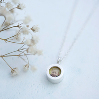 Tiny Silver Locket