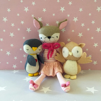 Sweet Deer- Penguin -Owl-Doll bed