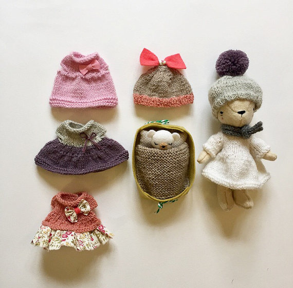 Mini Teddy bear set - Bear wardrobe