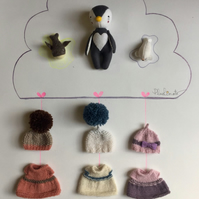 Miss Penguin - baby seal - baby whale- Felt animals