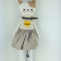 Cat doll - Kitten Softie - Zakka