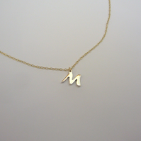 9ct gold & sterling silver letter necklace