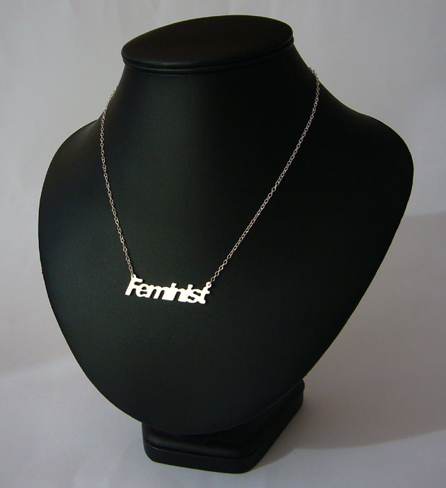 Sterling silver Feminist necklace