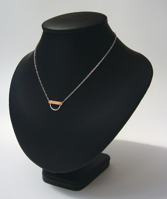 Silver & copper necklace