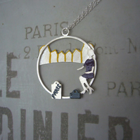 Shopping in Paris necklace