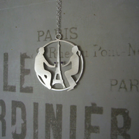 Couple in Paris necklace