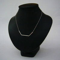 Silver 3 tube necklace
