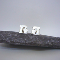 Silver food mixer earrings, hobbies, cooking gifts