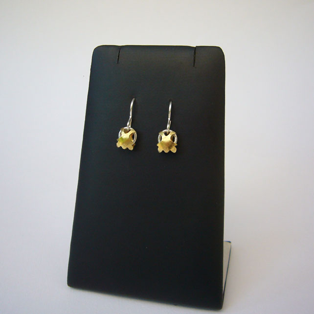 Brass & sterling silver earrings