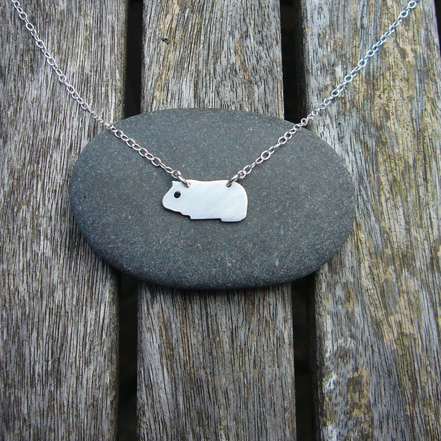 Guinea pig necklace, animal jewellery, cute animals, gift for animal lover