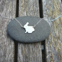 Rabbit necklace, animal jewellery, gifts for her, pet lovers, cute animals