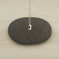 Sterling silver letter necklace, everyday jewellery, personalised jewellery