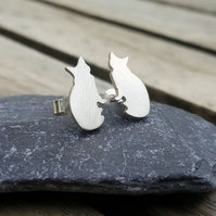 Cat stud earrings, pet lover's gift, cute animals, animal jewellery