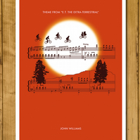 "E.T. - Theme by John Williams - Movie Classics Poster (A3 or 11x17"")"
