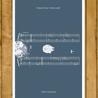 "STAR WARS - Theme by John Williams - Movie Classics Poster (A3 or 11x17"")"