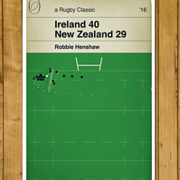 Ireland Rugby - Robbie Henshaw Try - Ireland v New Zealand - Poster - A3 Size