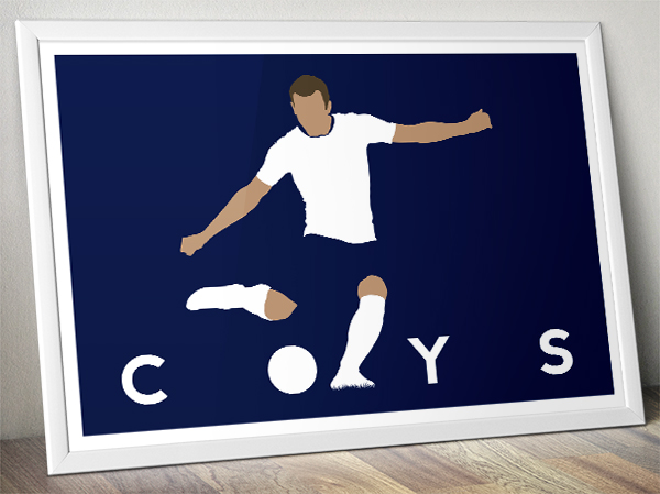 Football Poster - Harry Kane - COYS - Come On You Spurs - Tottenham Hotspur - A3