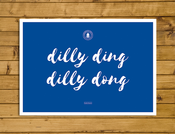 Dilly Ding, Dilly Dong - Ranieri Leicester City Quote Poster - A3
