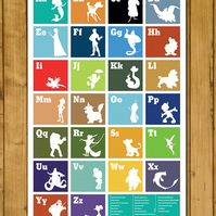 "The Disney Alphabet Poster - Disney A-Z ( A3 or 11x17"")"