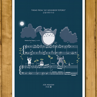 My Neighbor Totoro - Theme by Joe Hisaishi - Movie Classics Poster A3 or 11x17""